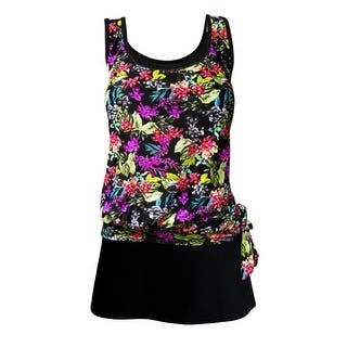 Blouson Tankini Top with Black Skirt in Bright Multi Floral Print|https://ak1.ostkcdn.com/images/products/is/images/direct/76cef83ce7a0451955ac0b921595477a3df905a5/Blouson-Tankini-Top-with-Black-Skirt-in-Bright-Multi-Floral-Print.jpg?impolicy=medium