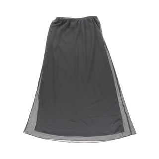 Alex Evenings Womens Crepe Picot Trim Maxi Skirt - L