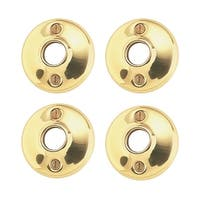 4 Pairs Colonial Door Rosettes Solid Brass Passage Knob 2 | Renovator's Supply