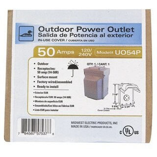 GE U054P Power Outlet Panel, 50 Amp