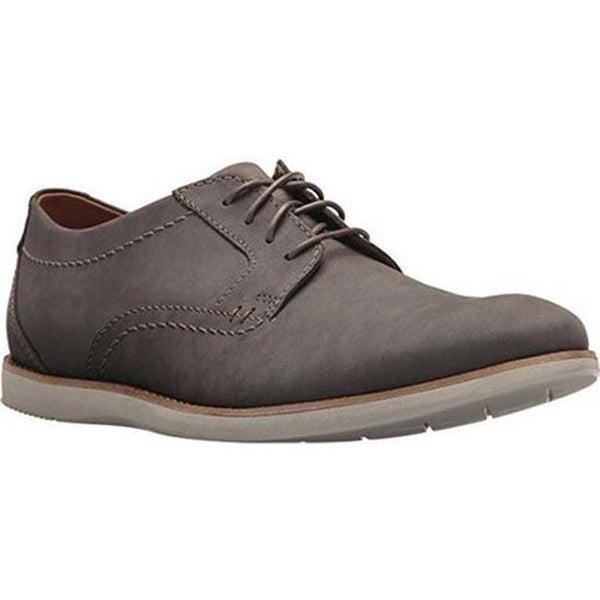 Raharto Plain Toe Oxford Grey Nubuck