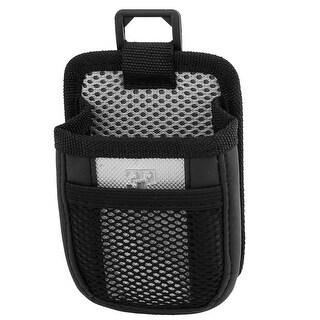 Unique Bargains Silver Tone Black Nylon Car Interior Cell Phone Storage Pen Holder