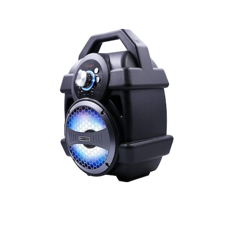 """Rechargeable Bluetooth Speaker with MP3 and LED - 6.5"""""""