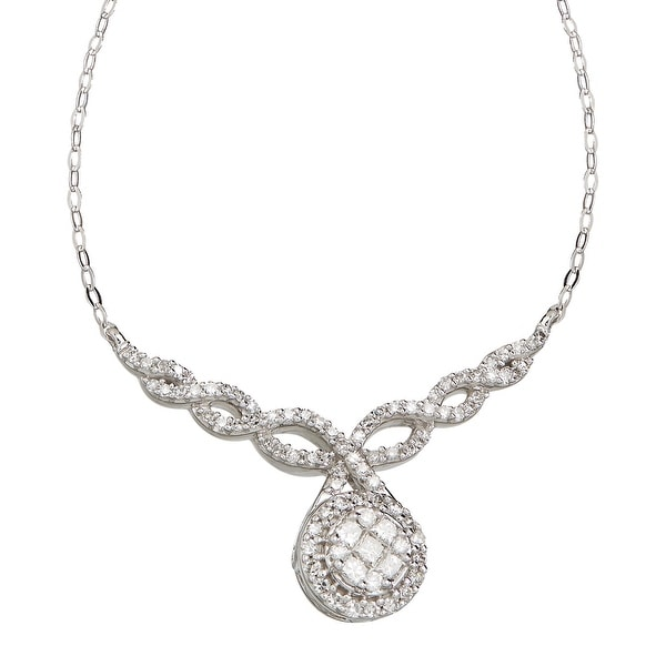 1/2 ct Diamond Garland Necklace in 14K White Gold