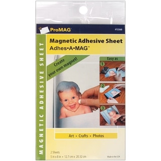 "ProMag Adhesive Magnetic Sheets-5""X8"" 2/Pkg"