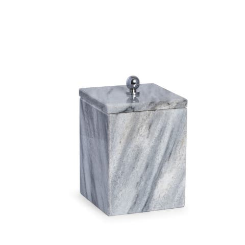Marble Bath Canister with Lid in Cloud Grey