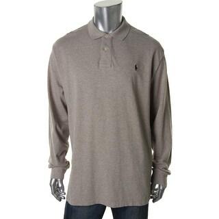 Polo Ralph Lauren Mens Heathered Pique Polo Shirt - M