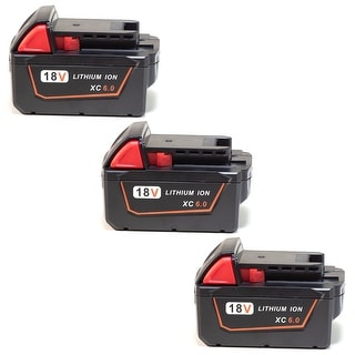 Replacement for Milwaukee 48-11-1860 XC 6.0 High Capacity Battery (3 Pack)