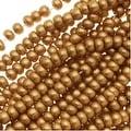 Czech Seed Beads 11/0 Light Gold Supra Metallic (1 Hank) - Thumbnail 0