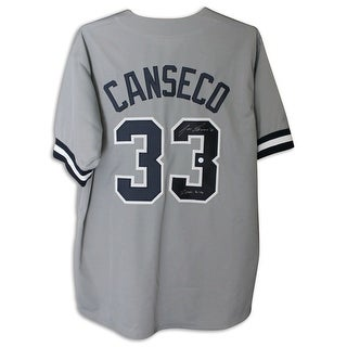 Jose Canseco New York Yankees Autographed Gray Jersey Inscribed 2000 WSC