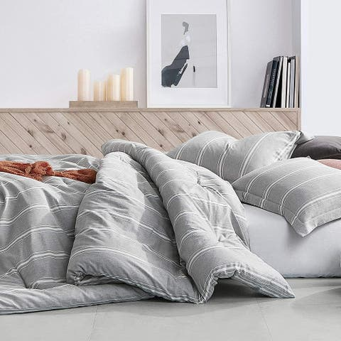 Cinder Striped Oversized Comforter - 100% Yarn Dyed Cotton
