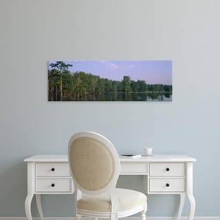 Easy Art Prints Panoramic Images's 'Cypress Trees along a lake, Horseshoe Lake, Illinois, USA' Premium Canvas Art