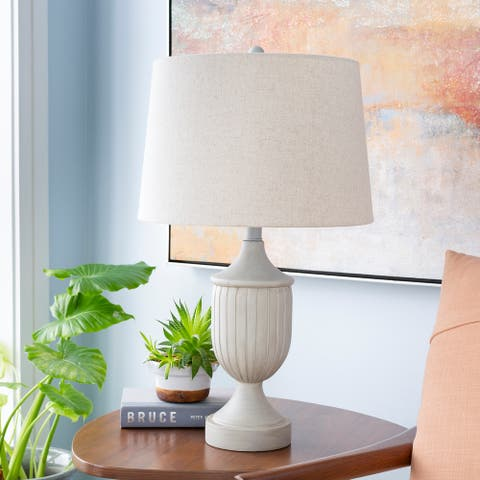 "Parry 25.5 in. Light Grey Traditional Table Lamp - 25.5"" H"