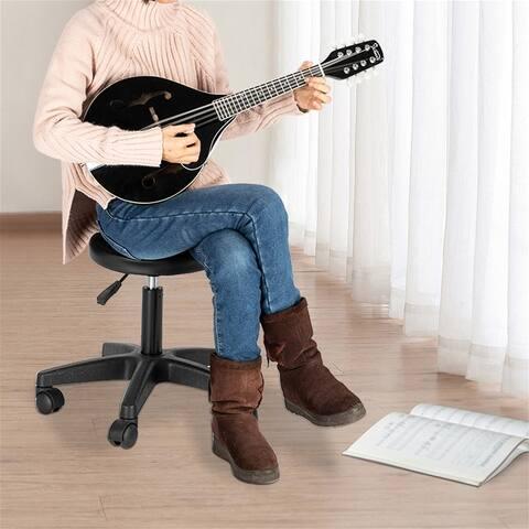 8-String Acoustic Mandolin Flatback Acoustic Mandolin with Pick Guard