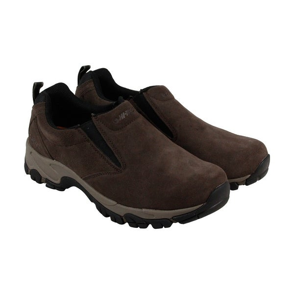 Hi-Tec Altitude Moc Mens Brown Suede Casual Dress Slip On Loafers Shoes
