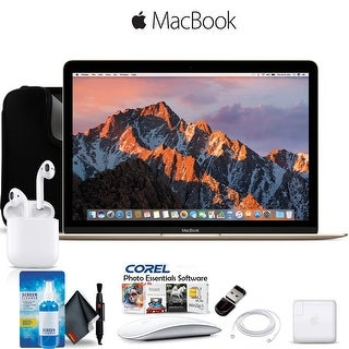 Apple 12 MacBook Gold Retina, 8GB RAM, 512GB SSD, Mac OS Bundle Professional