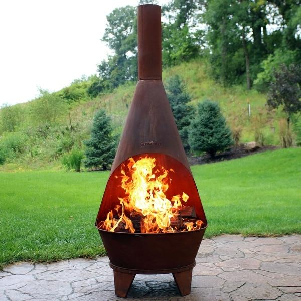Sunnydaze 6-Foot Rustic Chiminea Wood-Burning Fire Pit - Shop Sunnydaze 6-Foot Rustic Chiminea Wood-Burning Fire Pit - Free