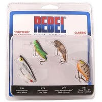 Rebel Classic Critters Fishing Lures - multi-color