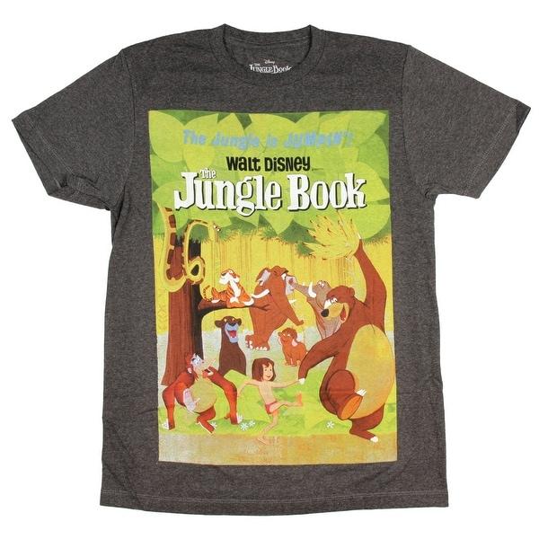 f5f9d32f8 Disney The Jungle Book T Shirt Movie Poster Jungle Is Jumpin  x27  ...