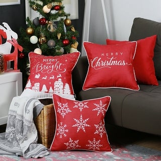 "Link to Merry Christmas Set of 4 Throw Pillow Covers Christmas Gift 18""x18"" Similar Items in Decorative Accessories"