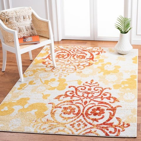 SAFAVIEH Adirondack Roxy Damask Floral Distressed Rug