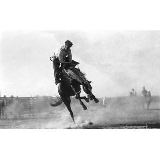 Burns, Oregon - Cowboy Riding Bronco in Rodeo - Vintage Photograph (Keepsake Tin)
