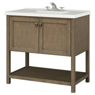 "Sunny Wood AN3621 Aiden 36"" Hardwood Vanity Cabinet Only"