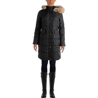 Larry Levine Womens Quilted Down Parka - XS
