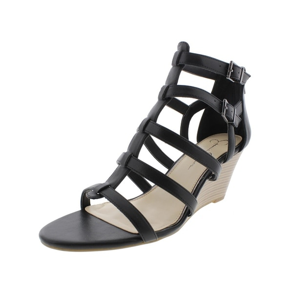 Jessica Simpson Womens Shalon Wedge Sandals Caged