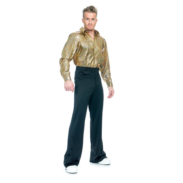 mens gold hologram disco dude 70s halloween costume