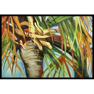 Carolines Treasures JMK1129JMAT Orange Top Palm Tree Indoor & Outdoor Mat 24 x 36 in.
