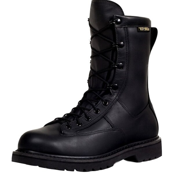 Rocky Work Boots Mens Duty Welt Leather Oil Resist Black