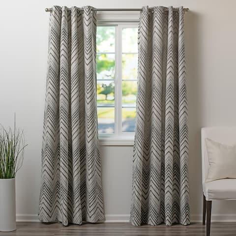 Wavelength Pattern Drapery Panel, Grommet Top