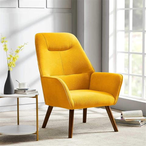 Modern Accent Fabric Chair Single Sofa