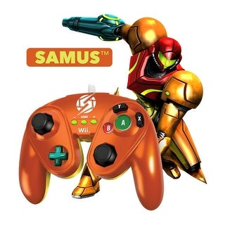 PDP Wired Fight Pad Controller for Nintendo Wii/Wii U - Samus (Metallic Orange)