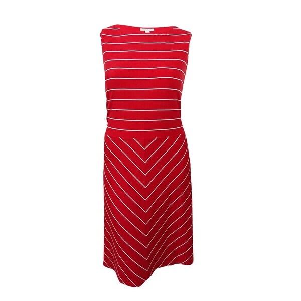 Shop Charter Club Women S Plus Size Striped Fit Amp Flare