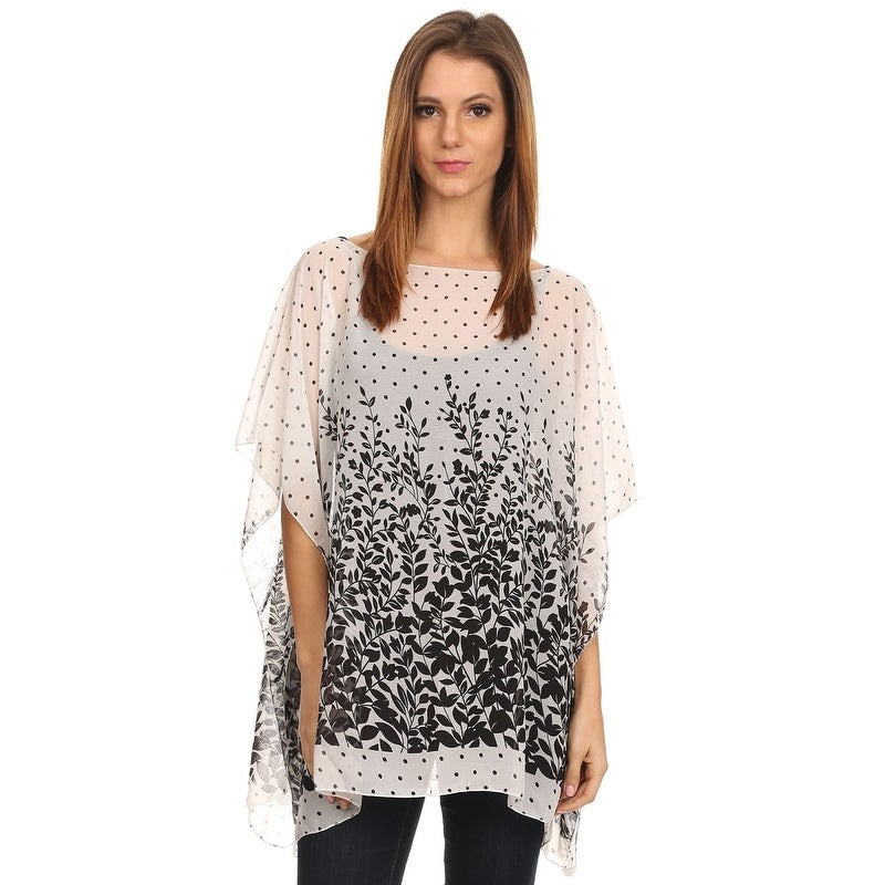 Lightweight Poncho Deep Red Leopard A soft warm woollen blend summer top.