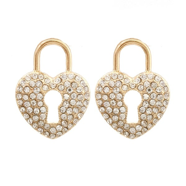 Heart Lock Earrings for Valentine's Day