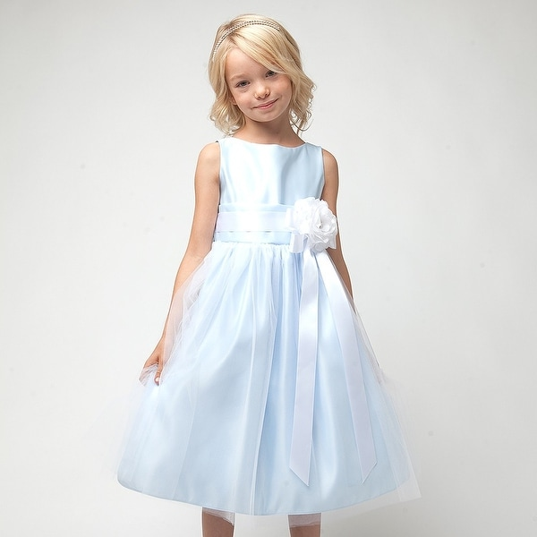 Sweet Kids Baby Girl 24M Light Blue Tulle Special Occasion Dress