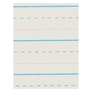 Zaner-Bloser Broken Midline Paper, 1/2 Inch Rule, 10-1/2 x 8 Inches, Pack of 500