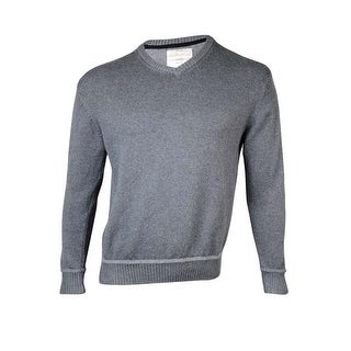 Weatherproof Men's Basic V-Neck Cotton Pullover Sweater - M