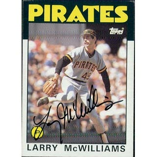 Signed McWilliams Larry Pittsburgh Pirates 1986 Topps baseball Card autographed|https://ak1.ostkcdn.com/images/products/is/images/direct/76dd22edee8c219a32fbe7237d1fd1704441da09/Signed-McWilliams-Larry-Pittsburgh-Pirates-1986-Topps-baseball-Card-autographed.jpg?impolicy=medium