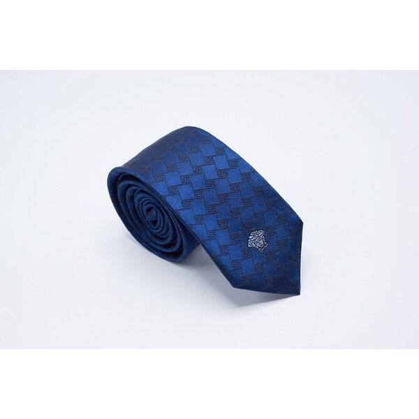b2216d4cda Gianni Versace Mens Navy Diamond Maze Pattern Pure Silk Medusa Ties - no  size
