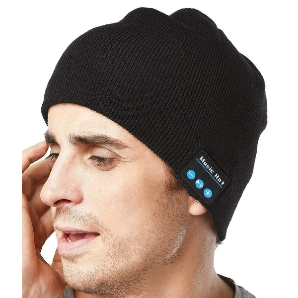 Upgraded Unisex Knit Bluetooth Hat Headband Headphones Gifts forEveryone  Stocking Stuffer w Built- 5e8121a20529