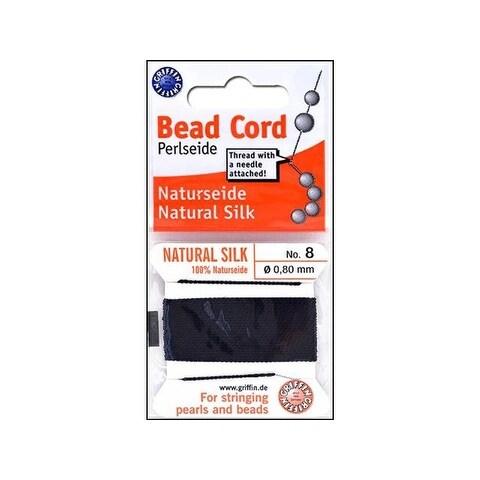 Beadalon Griffin 100% Silk Bead Cord Sz8 2M Black