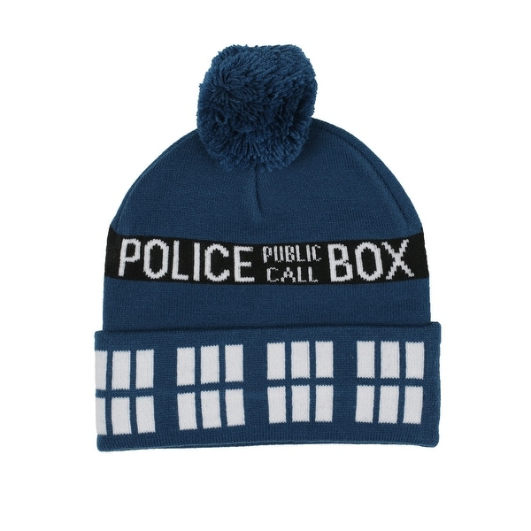 Doctor Who TARDIS Knit Hat with Pompom