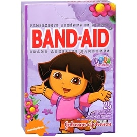 BAND-AID Bandages Dora The Explorer Assorted Sizes 25 Each