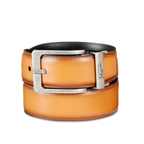 Original Penguin Mens Amigo Dress Belt Leather Reversible