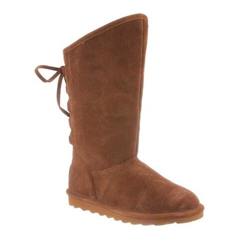 Bearpaw Women's Phyllly Ghillie Lace Boot Hickory II Cow Suede