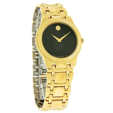 Movado Men's 0690897 'Folio' Gold-Tone Stainless Steel Watch